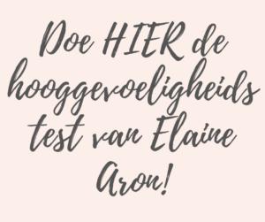HSP test Elaine Aron - Coachpraktijk Stefanie