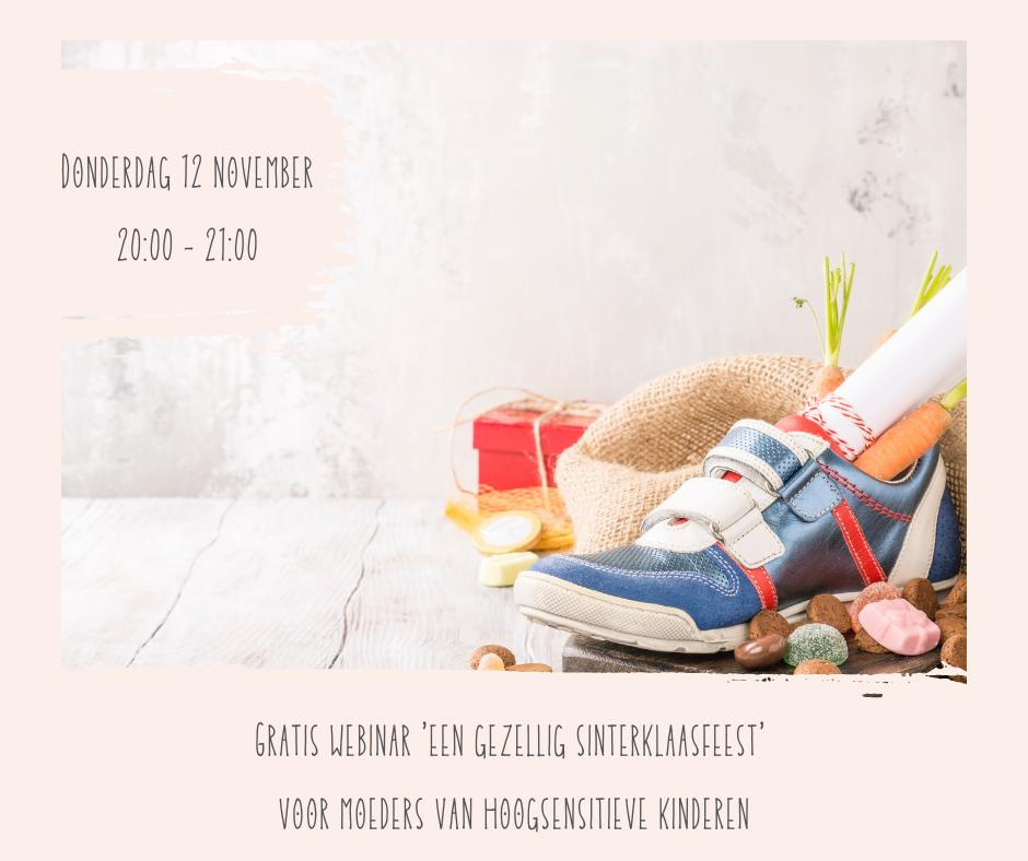 webinar een gezellig sinterklaasfeest voor moeders van hoogsensitieve kinderen - coachpraktijk Stefanie - Katwijk