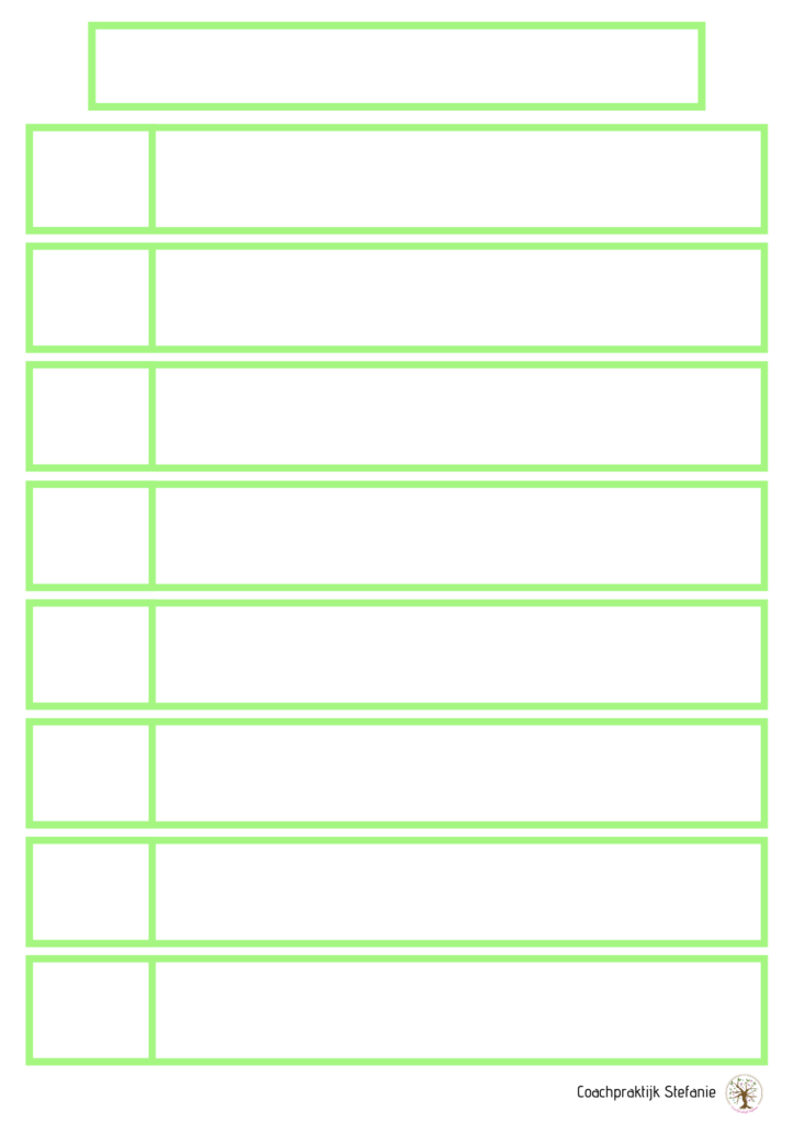 printable dagstructuur groen
