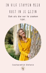 ebook in vijf stappen meer rust in je gezin - voor ouders van hooggevoelige kinderen met een sterke wil - Coachpraktijk Stefanie in Katwijk